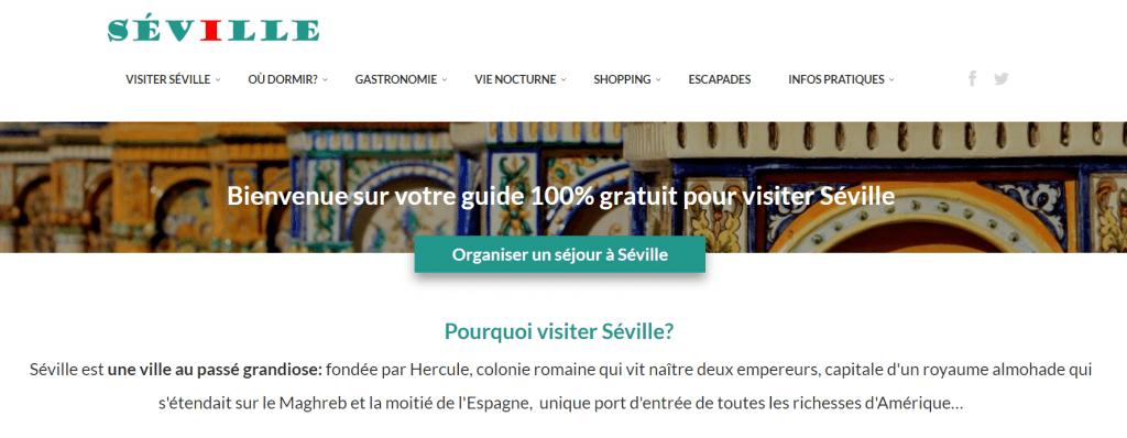 Web de turismo de Sevilla decouvrirseville.com