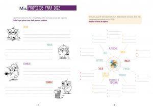 Doble página agenda CreaTuVida 2022 - Proyectos foco